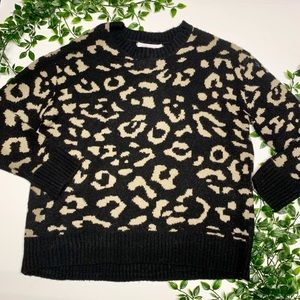Workshop NWT Cheetah Sweater (L)